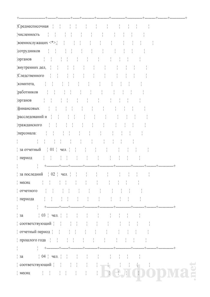 Отчет по труду (Форма 12-т (сводная) (месячная)). Страница 3