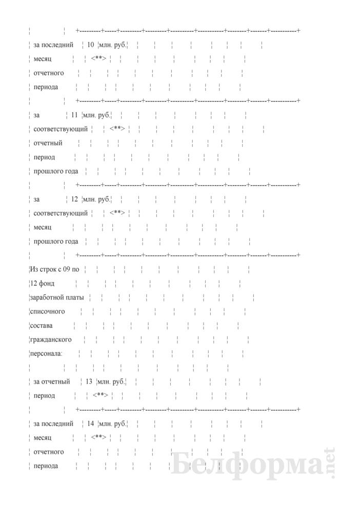 Отчет по труду (Форма 12-т (сводная) (месячная)). Страница 5