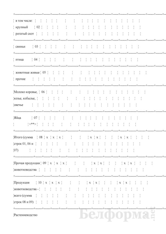Схема расчета объема производства продукции сельского хозяйства по видам и категориям производителей. Страница 2