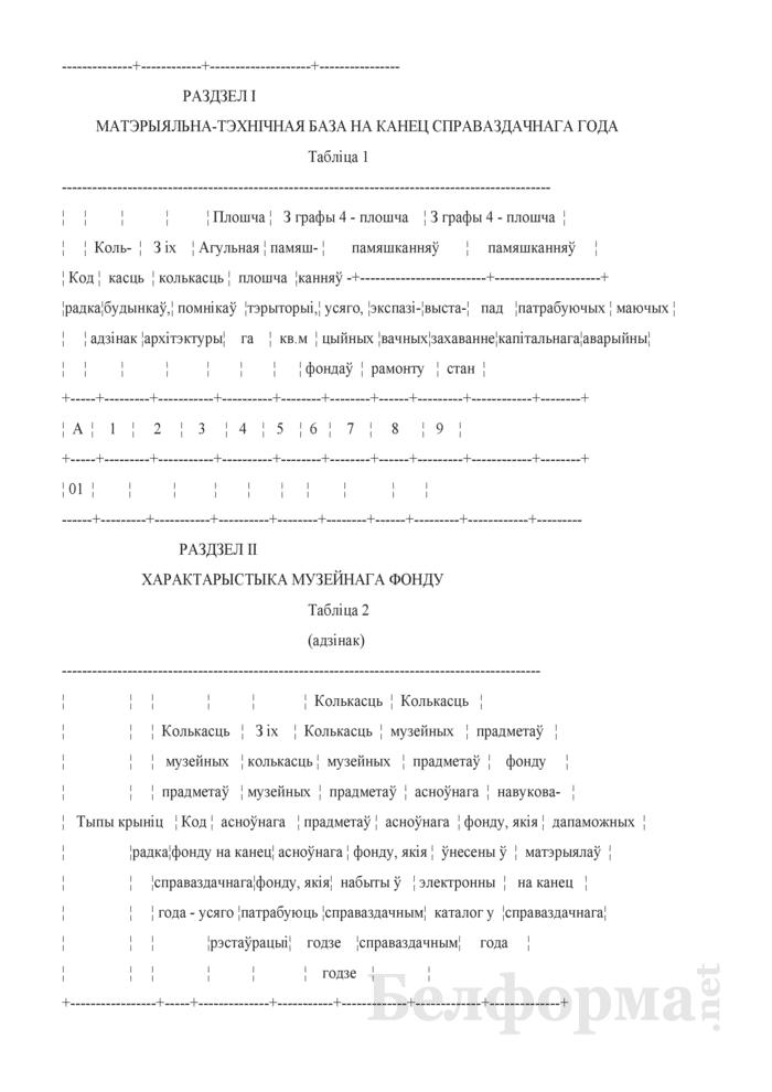 Справаздача аб дзейнасцi музея (Форма 1-музей (Мiнкультуры) (гадавая)). Страница 3