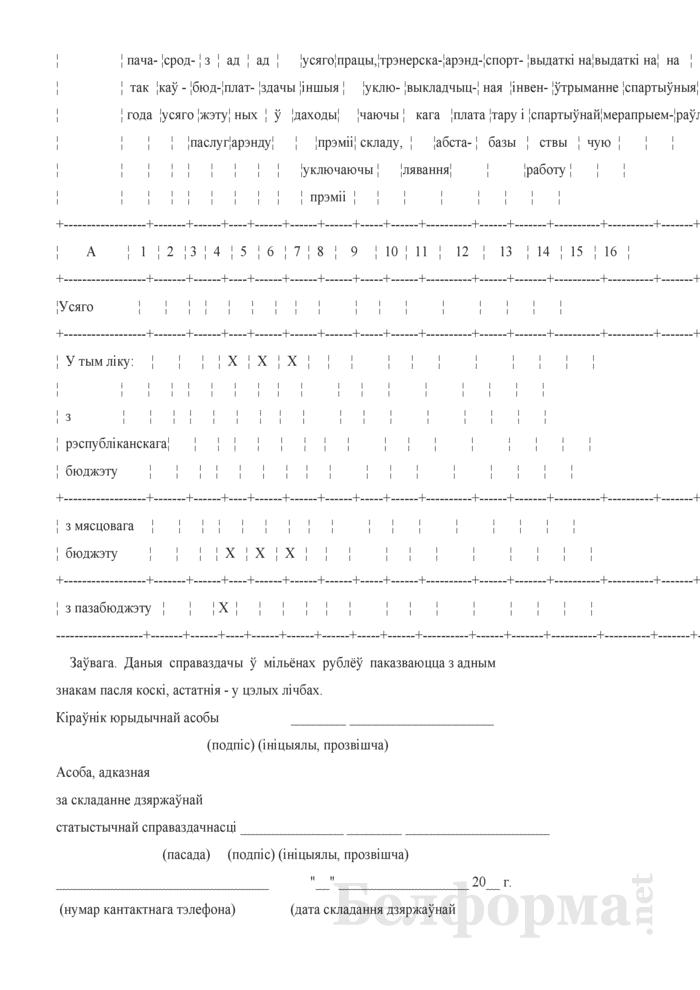 Справаздача спецыялiзаванай вучэбна-спартыўнай установы. Форма № 1-свсу (Мiнспорт) (годовая). Страница 11