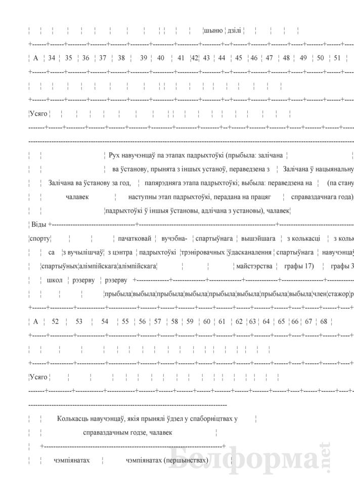 Справаздача спецыялiзаванай вучэбна-спартыўнай установы. Форма № 1-свсу (Мiнспорт) (годовая). Страница 5