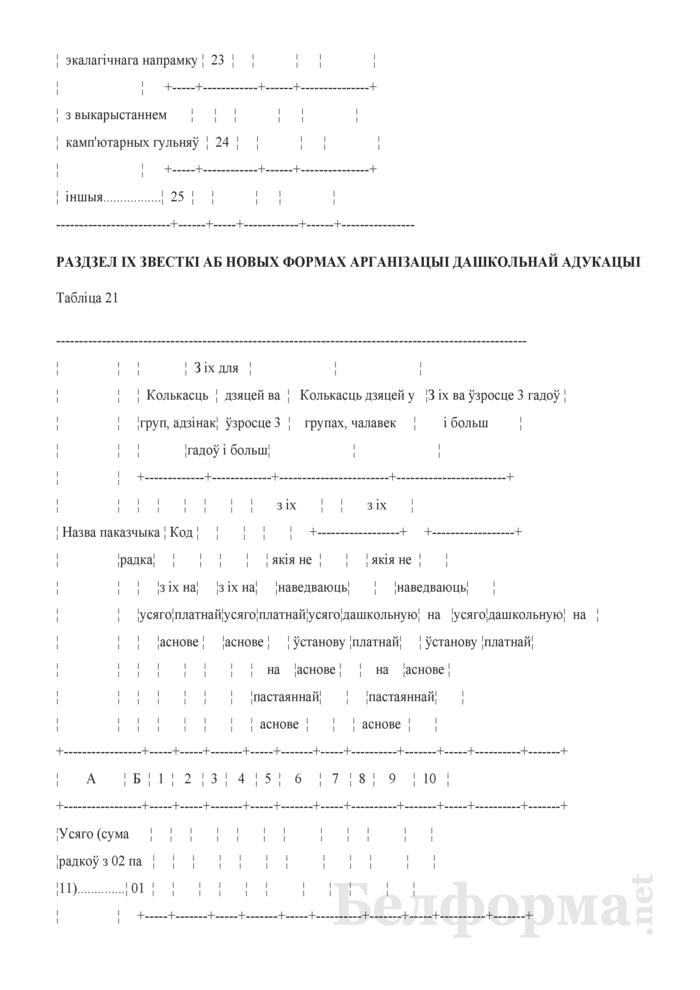 Справаздача ўстановы адукацыi, якая рэалiзуе адукацыйную праграму дашкольнай адукацыi (Форма 1-ду (Мiнадукацыя) (1 раз у год)). Страница 28