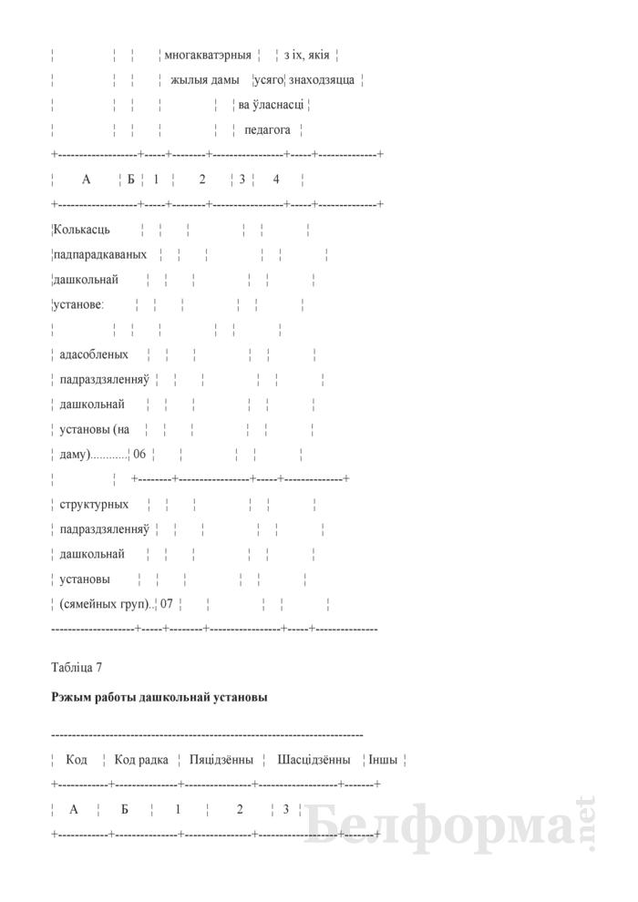 Справаздача ўстановы адукацыi, якая рэалiзуе адукацыйную праграму дашкольнай адукацыi (Форма 1-ду (Мiнадукацыя) (1 раз у год)). Страница 7