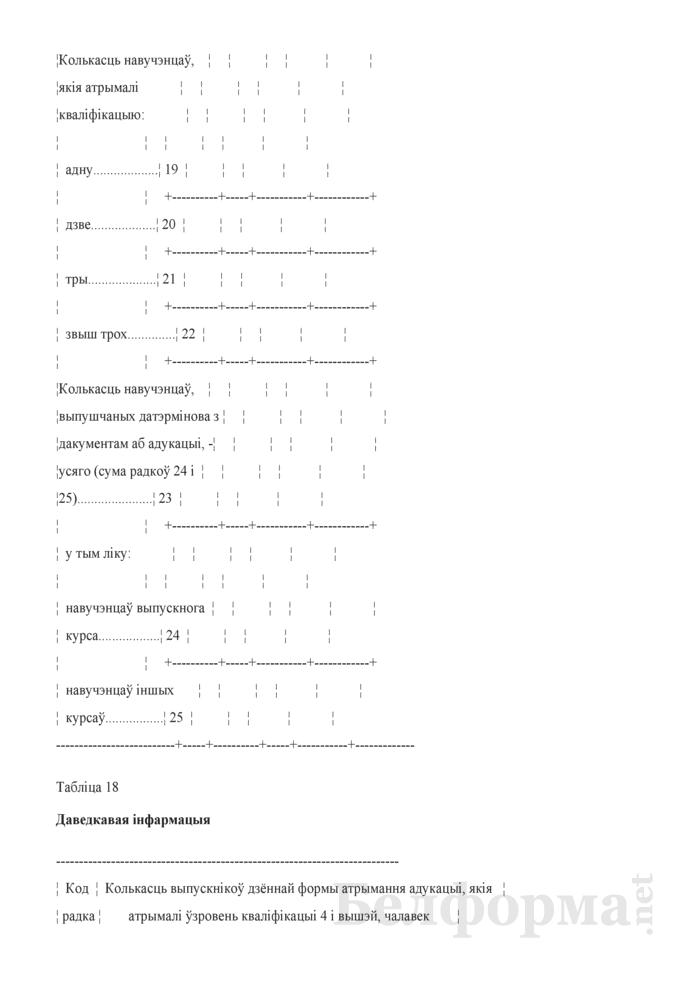 Справаздача ўстановы адукацыi, якая рэалiзуе адукацыйныя праграмы прафесiянальна-тэхнiчнай адукацыi (Форма 1-прафтэх (Мiнадукацыя) (1 раз у год). Страница 39