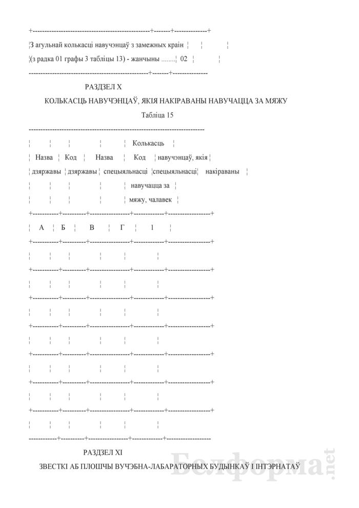 Справаздача ўстановы адукацыi, якая рэалiзуе адукацыйныя праграмы сярэдняй спецыяльнай адукацыi, па стану на 1 кастрычнiка навучальнага года (Форма 1-ссну (Мiнадукацыя) (1 раз у год)). Страница 19