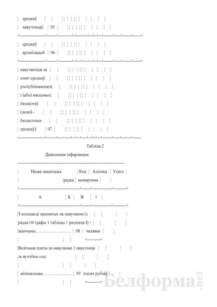 Справаздача ўстановы адукацыi, якая рэалiзуе адукацыйныя праграмы сярэдняй спецыяльнай адукацыi, па стану на 1 кастрычнiка навучальнага года (Форма 1-ссну (Мiнадукацыя) (1 раз у год)). Страница 6