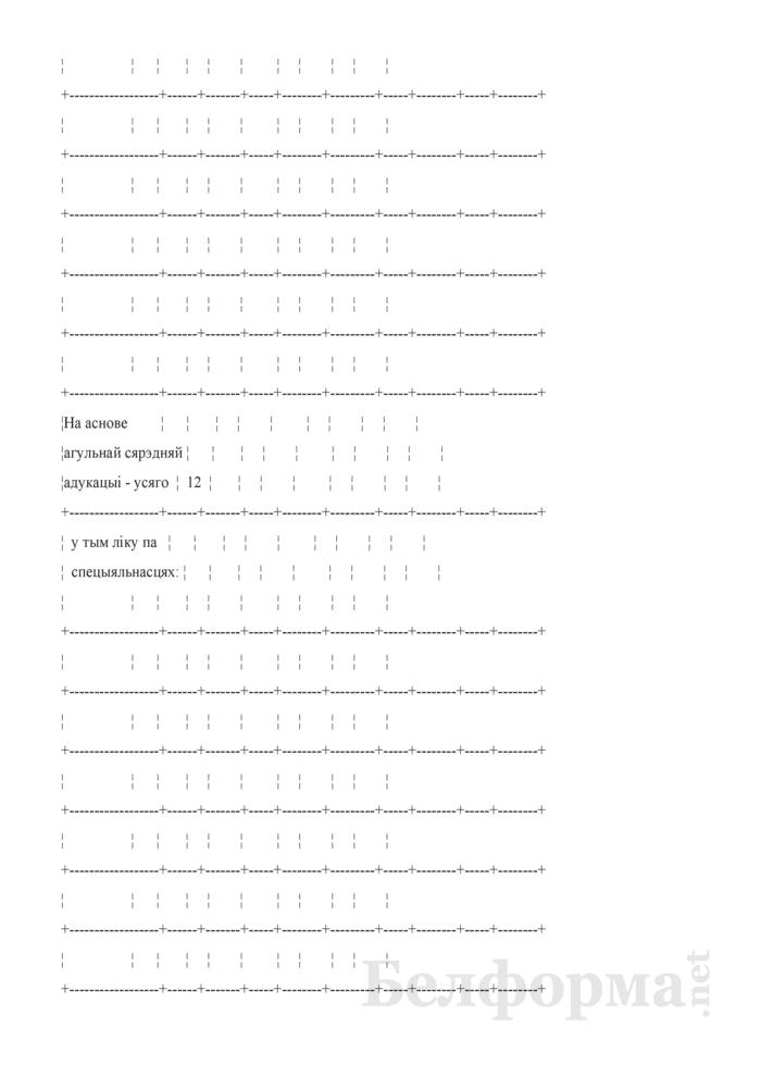 Справаздача ўстановы адукацыi, якая рэалiзуе адукацыйныя праграмы сярэдняй спецыяльнай адукацыi, па стану на 1 кастрычнiка навучальнага года (Форма 1-ссну (Мiнадукацыя) (1 раз у год)). Страница 8
