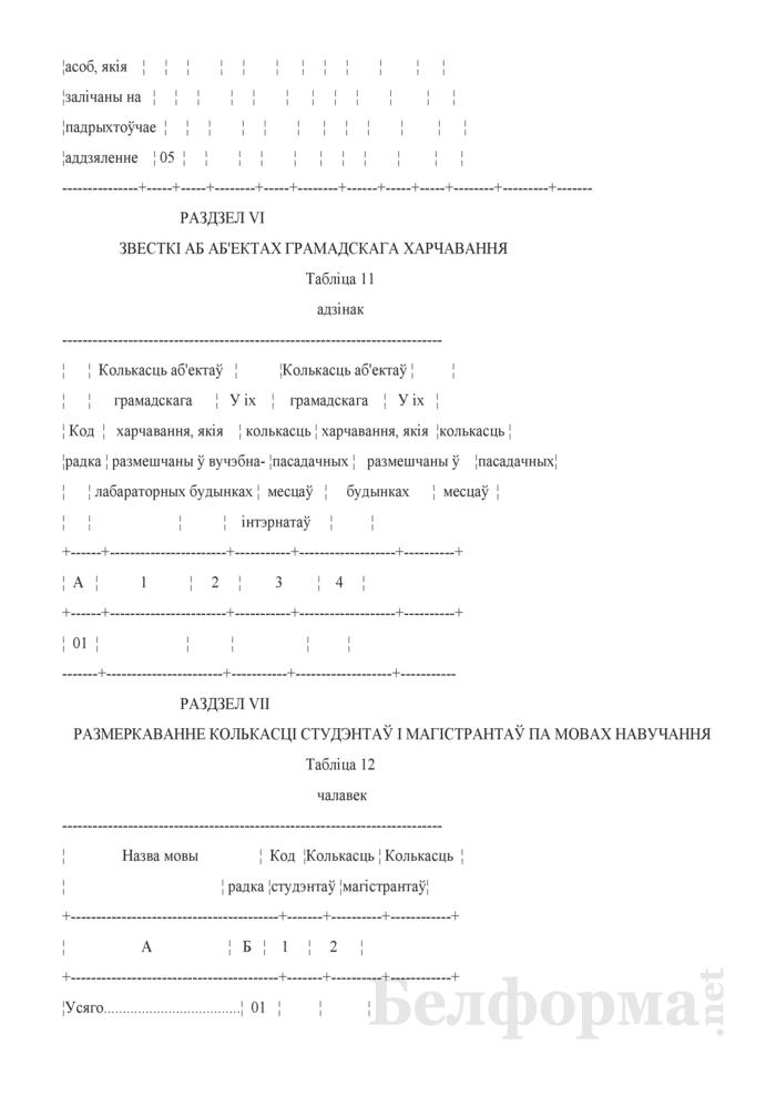 Справаздача ўстановы адукацыi, якая рэалiзуе адукацыйныя праграмы вышэйшай адукацыi (Форма 1-вну (Мiнадукацыя) (1 раз у год)). Страница 15