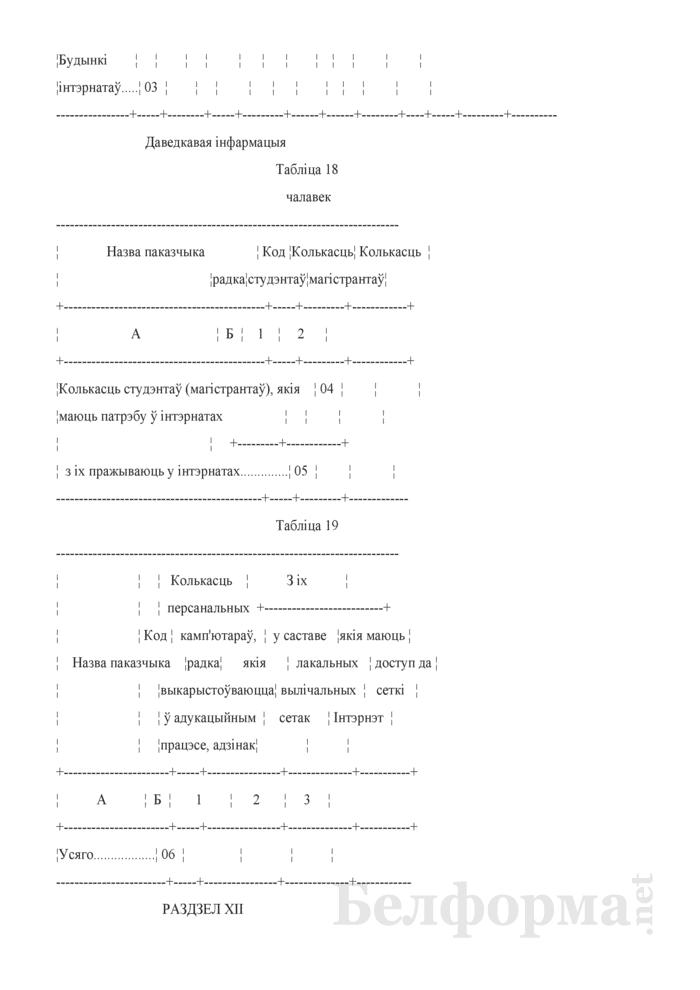 Справаздача ўстановы адукацыi, якая рэалiзуе адукацыйныя праграмы вышэйшай адукацыi (Форма 1-вну (Мiнадукацыя) (1 раз у год)). Страница 21