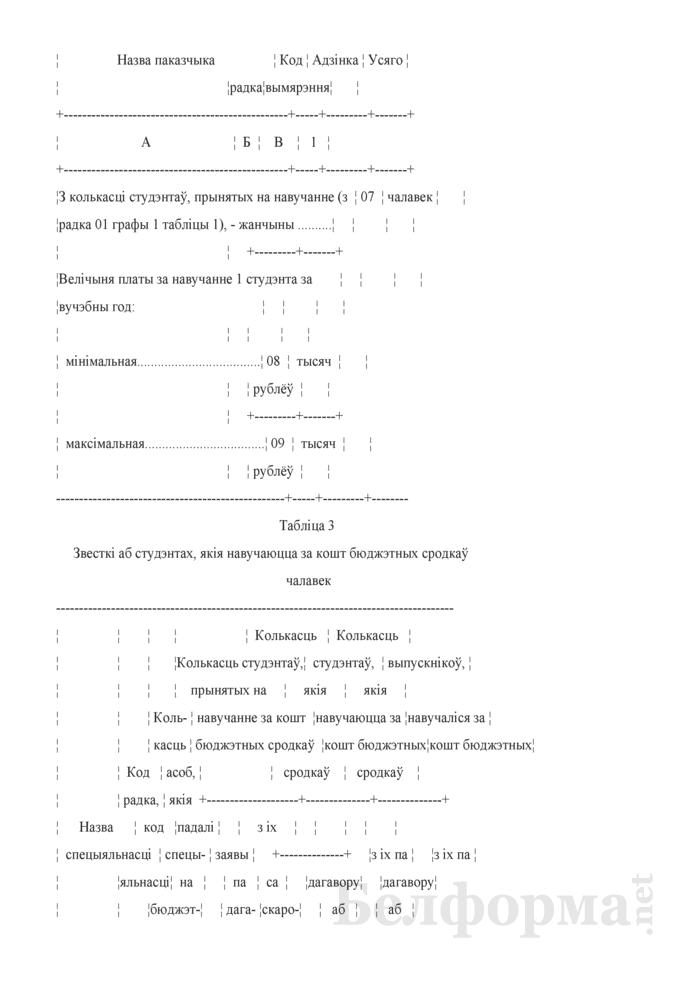 Справаздача ўстановы адукацыi, якая рэалiзуе адукацыйныя праграмы вышэйшай адукацыi (Форма 1-вну (Мiнадукацыя) (1 раз у год)). Страница 5