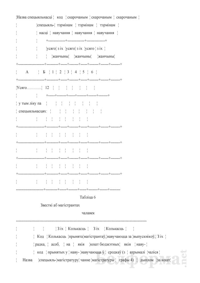 Справаздача ўстановы адукацыi, якая рэалiзуе адукацыйныя праграмы вышэйшай адукацыi (Форма 1-вну (Мiнадукацыя) (1 раз у год)). Страница 8
