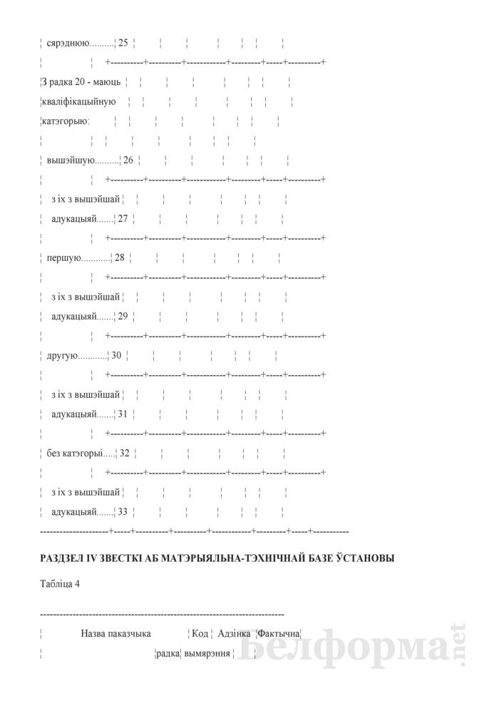 Справаздача ўстановы дадатковай адукацыi дзяцей i моладзi (Форма 1-пу (Мiнадукацыя) (1 раз у год)). Страница 6