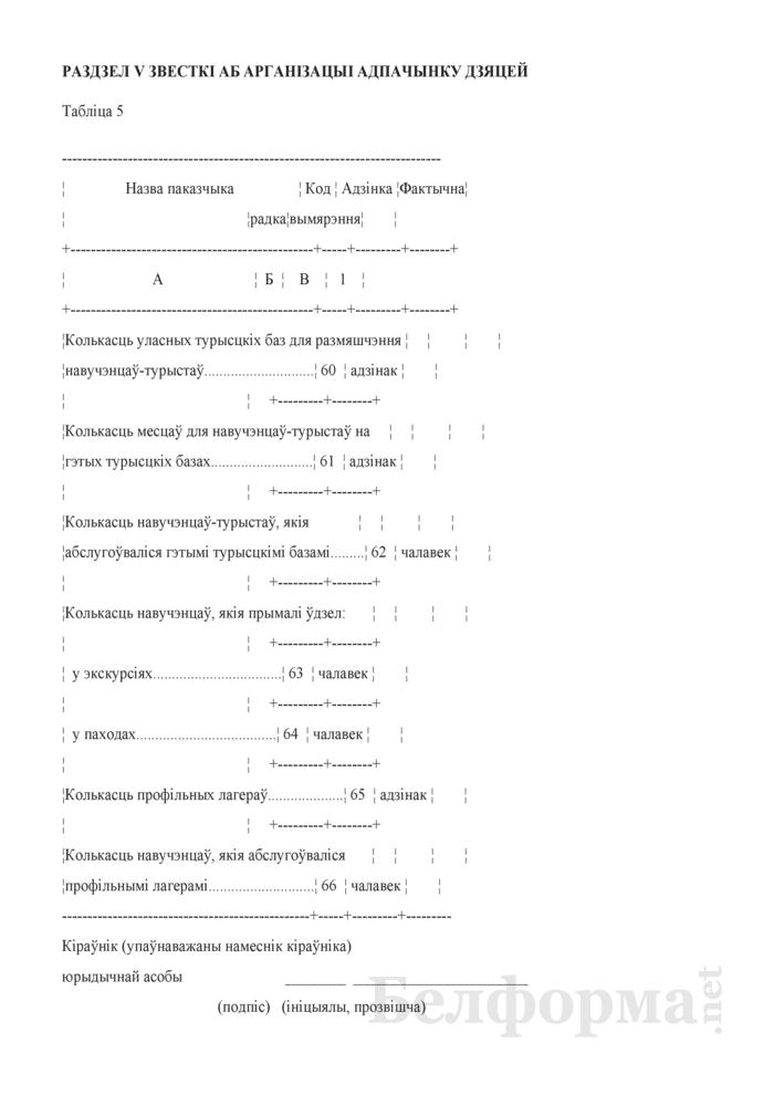 Справаздача ўстановы дадатковай адукацыi дзяцей i моладзi (Форма 1-пу (Мiнадукацыя) (1 раз у год)). Страница 8