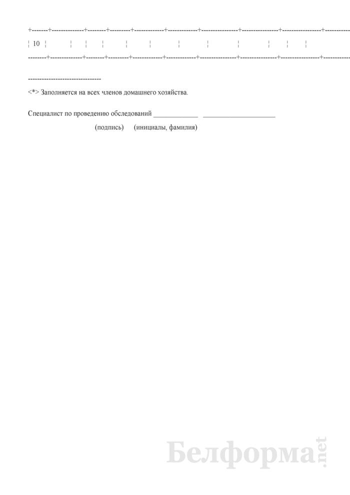 Вопросник для основного интервью (Форма 1-дх (основной) (1 раз в год), код формы по ОКУД 0617401). Страница 13