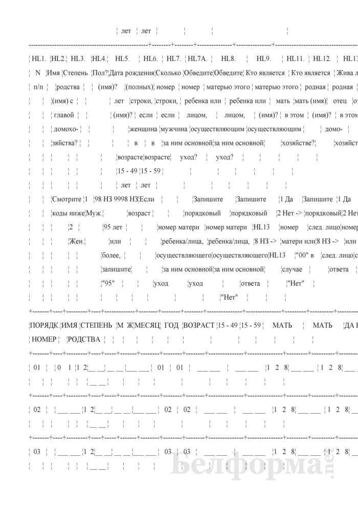 Вопросник домохозяйства (Форма 1-дх (мко-семья) (единовременная)). Страница 5