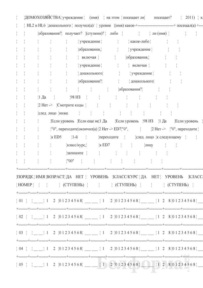 Вопросник домохозяйства (Форма 1-дх (мко-семья) (единовременная)). Страница 8