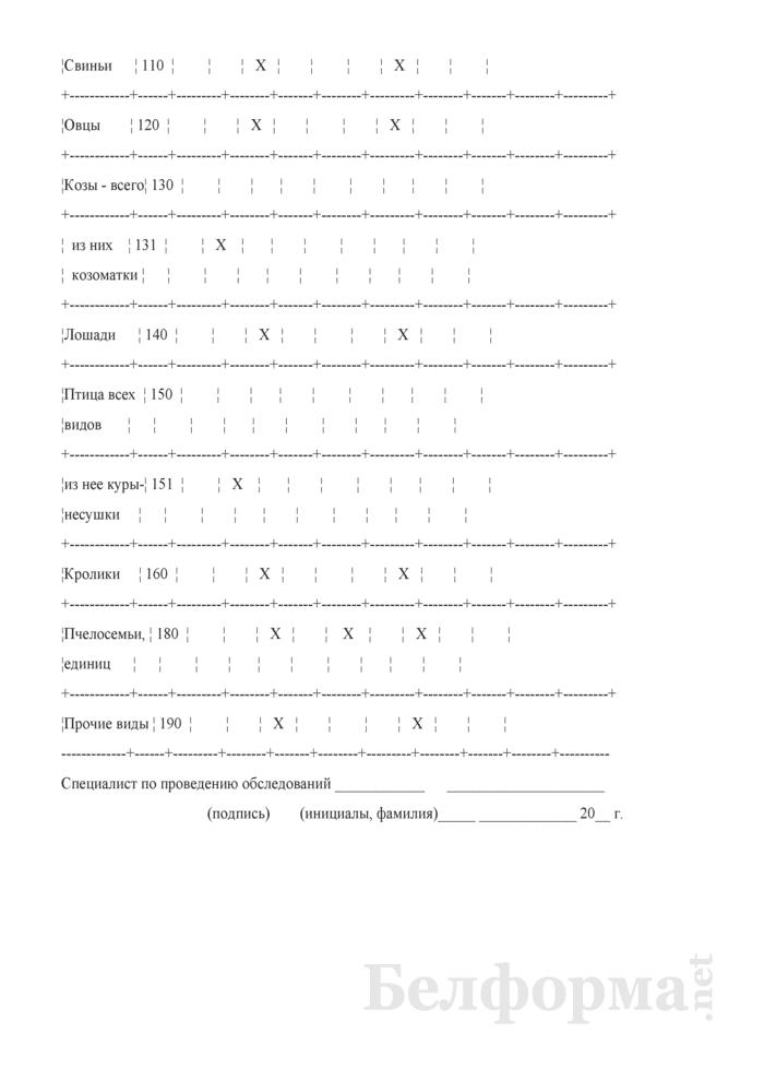 Вопросник о наличии и движении скота и птицы (Форма 4-сх (дх-животноводство) (квартальная)). Страница 3