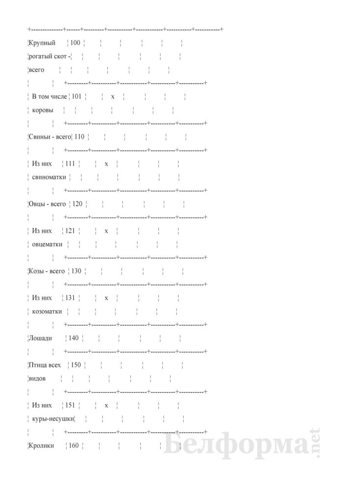 Вопросник о наличии и движении скота и птицы (Форма 4-сх (дх-животноводство) (за II, III, IV кварталы 2010 года)). Страница 3
