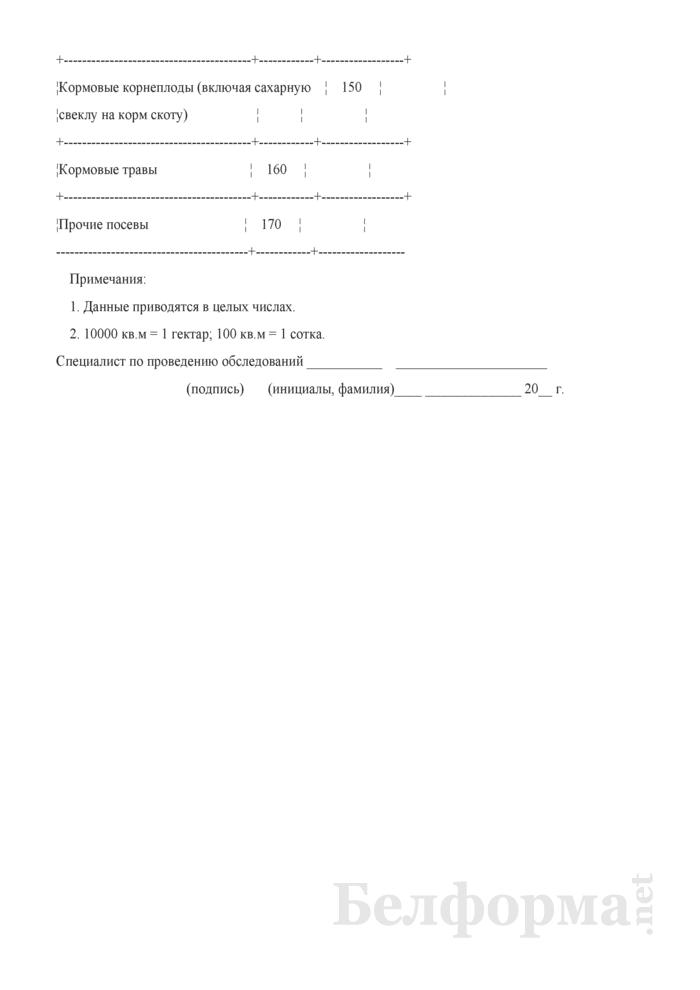 Вопросник о посевных площадях сельскохозяйственных культур (Форма 1сх (дх-площади) (1 раз в год)). Страница 4