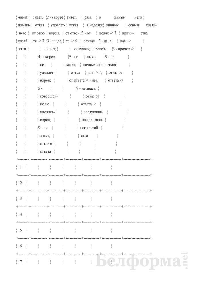 Вопросник по изучению доступа домашних хозяйств к информационно-коммуникационным технологиям (Форма 1-дх (ИКТ) (1 раз в год), код формы по ОКУД 0617417). Страница 3