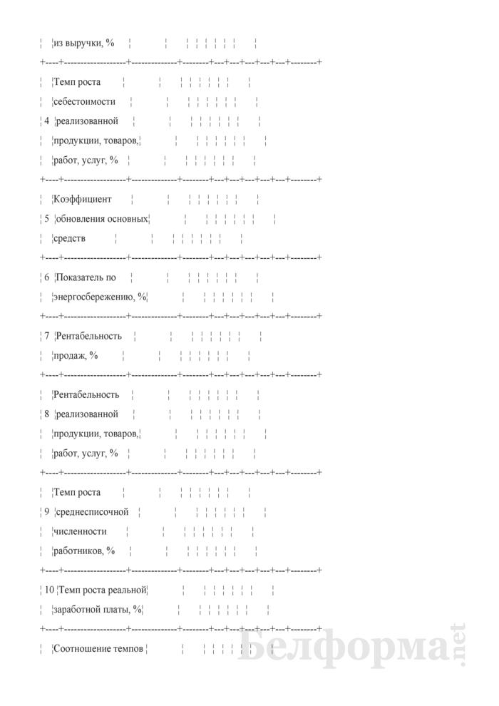 Таблица 2-6. Основные показатели развития строительной организации на пять лет. Страница 2