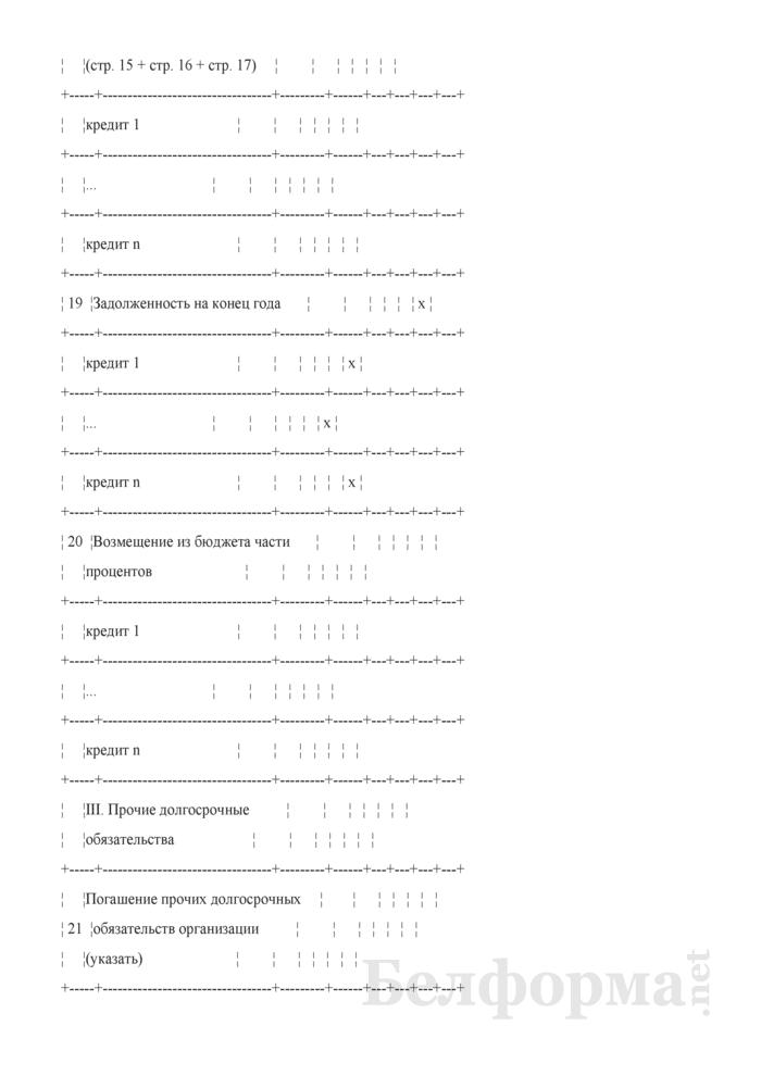 Таблица 4-17. Сводный расчет погашения долговых обязательств. Страница 6