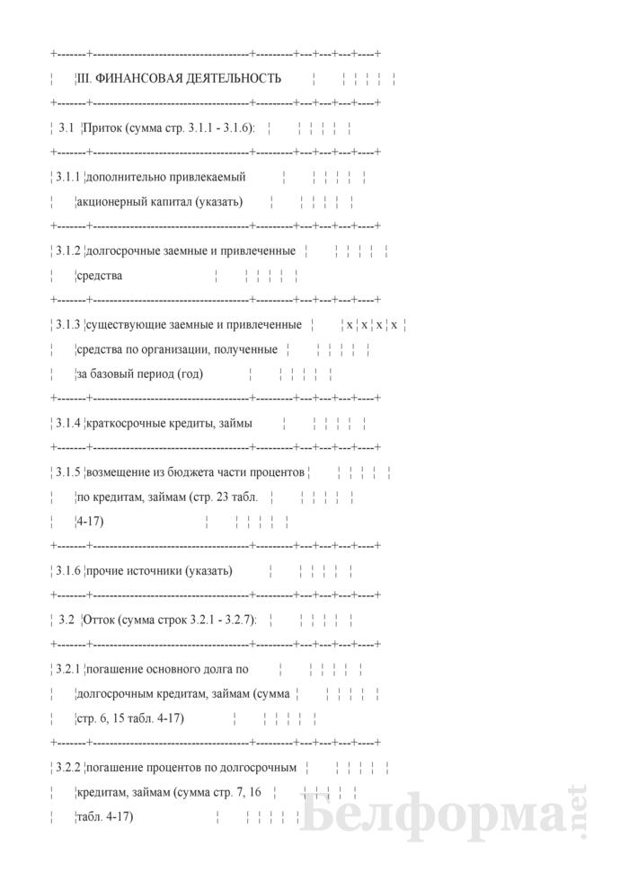 Таблица 4-20. Расчет потока денежных средств. Страница 4