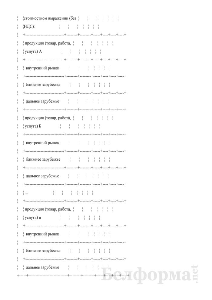 Таблица 4-4. Программа производства и реализации продукции, товаров, работ, услуг в стоимостном выражении. Страница 2