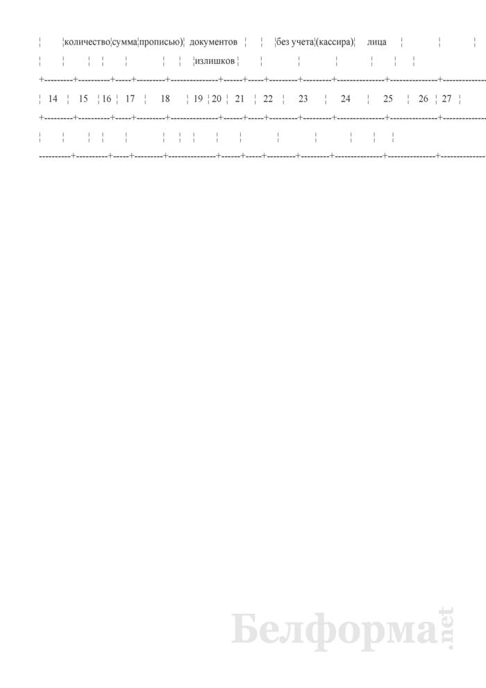 Книга кассира (организации почтовой связи). Страница 2