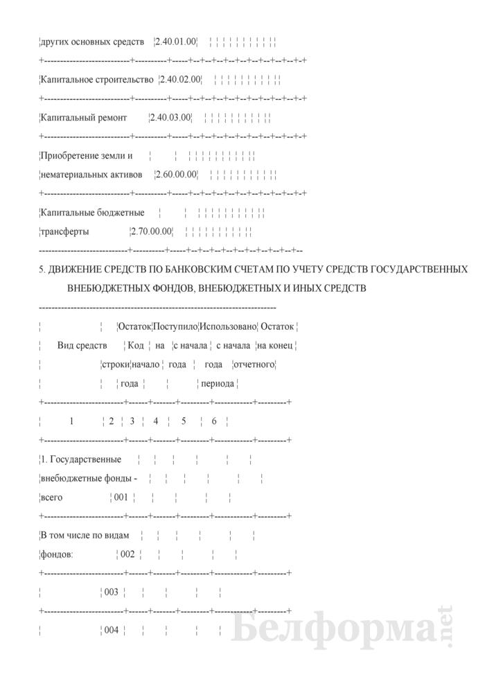 Месячный отчет о расходовании средств, выделенных из бюджета (Форма 1-М (оперативная)). Страница 26