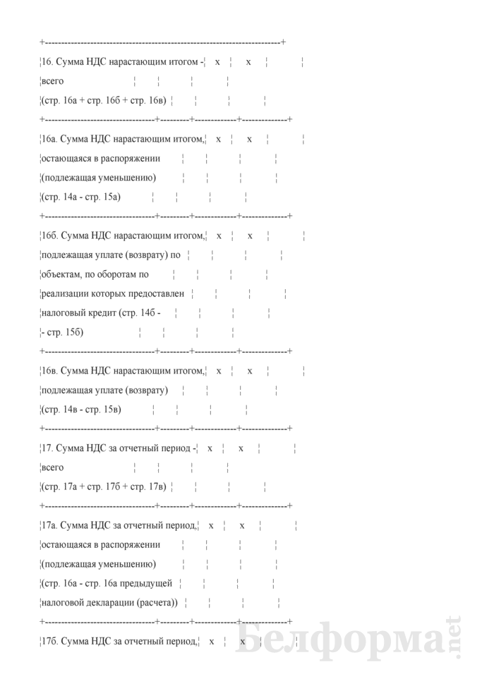 Налоговая декларация (расчет) по налогу на добавленную стоимость. Страница 7