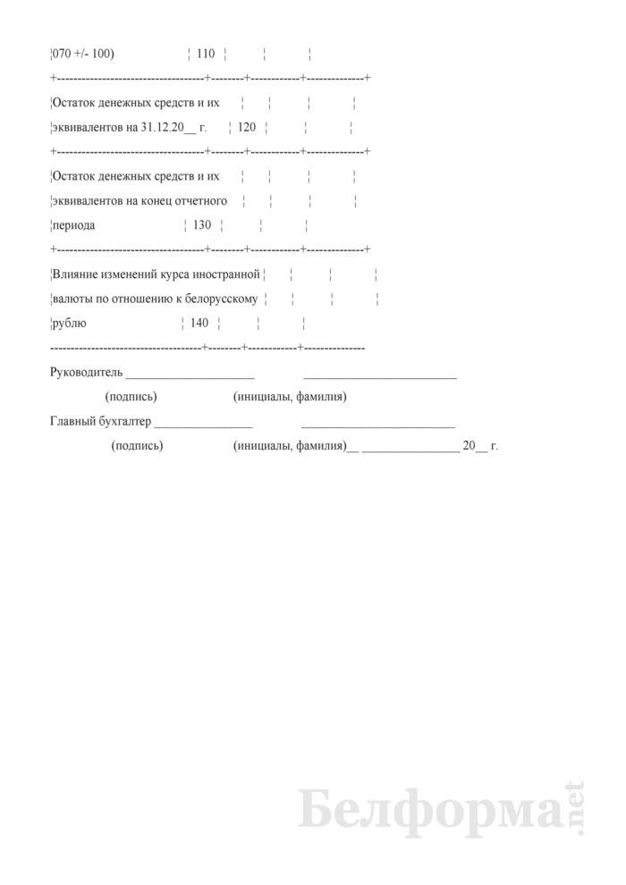 Отчет о движении денежных средств (Форма 4) (для организаций системы Минсельхозпрода). Страница 5