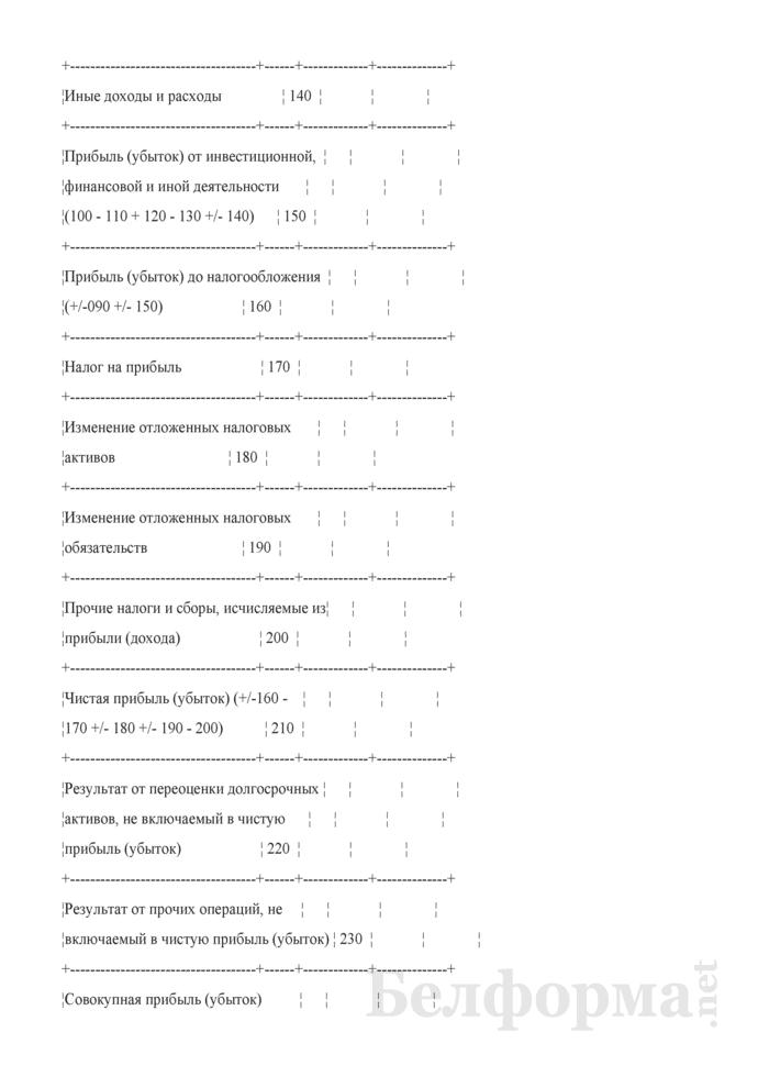 Отчет о прибылях и убытках. Страница 4