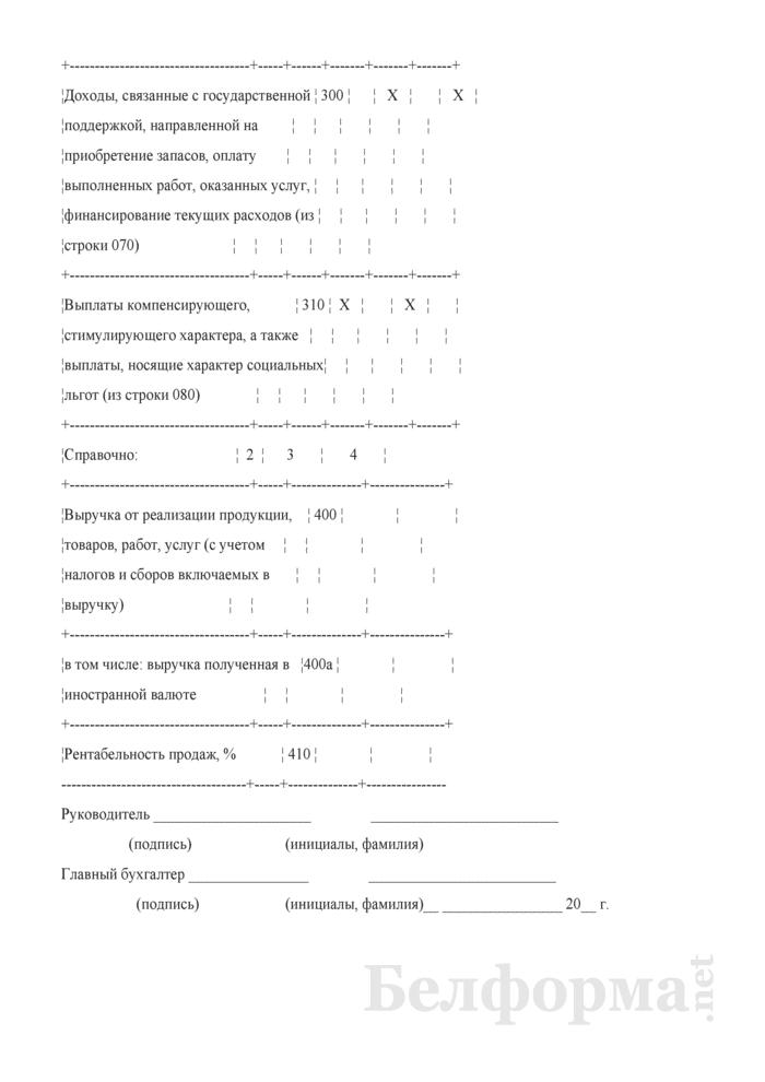 Отчет о прибылях и убытках (Форма 2) (для организаций системы Минсельхозпрода). Страница 6