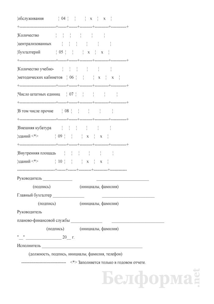 Отчет о выполнении плана по сети, штатам и контингентам по прочим бюджетным организациям (Форма 3-8). Страница 2