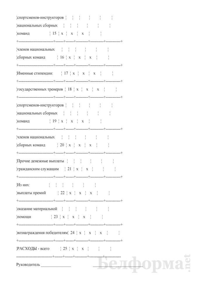 Отчет о выполнении плана по сети, штатам и контингентам по штатным национальным командам (Форма 3-12). Страница 3