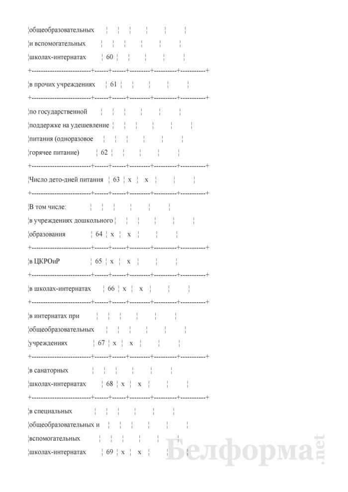Отчет о выполнении плана по сети, штатам и контингентам по учреждениям образования (Форма 3-5). Страница 8