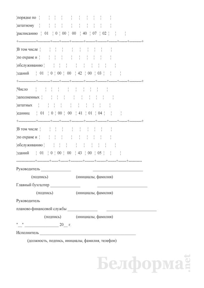 Отчет о выполнении плана по сети, штатам по государственным, судебным органам, органам прокуратуры, исполнительным и распорядительным органам, бюджетным организациям (Форма 3-1). Страница 2