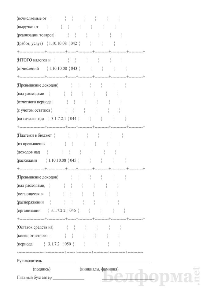 Отчет об исполнении сметы доходов и расходов фонда развития свободной экономической зоны (Форма 10-СЭЗ). Страница 7