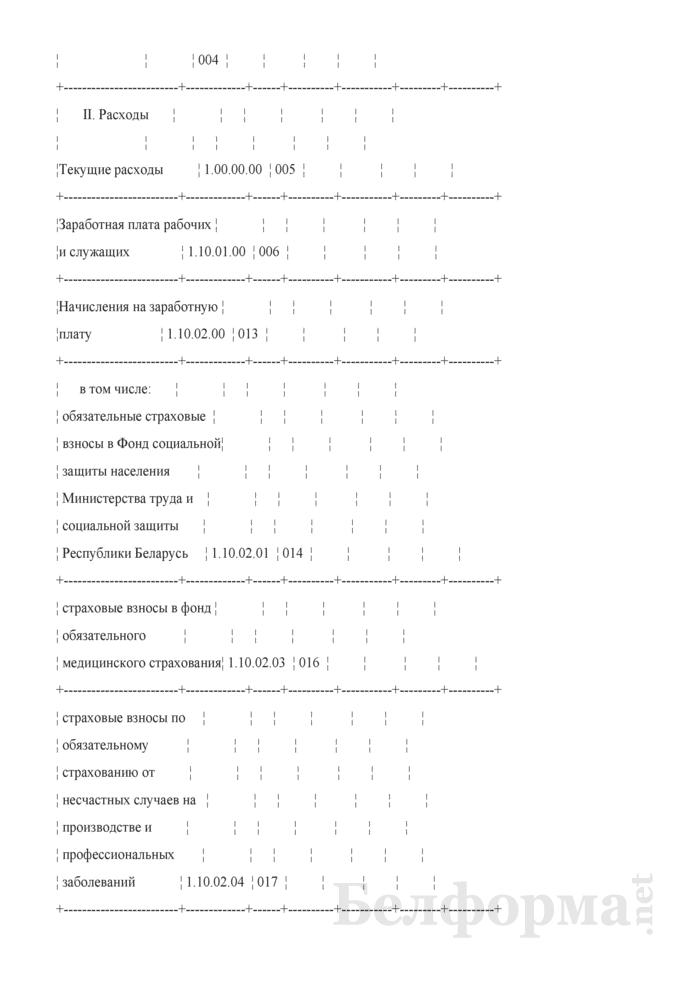 Отчет об исполнении сметы доходов и расходов внебюджетных средств. Страница 2
