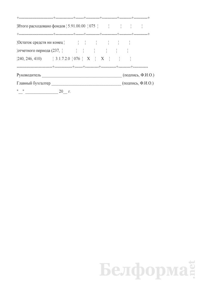 Отчет об исполнении сметы доходов и расходов внебюджетных средств. Страница 9