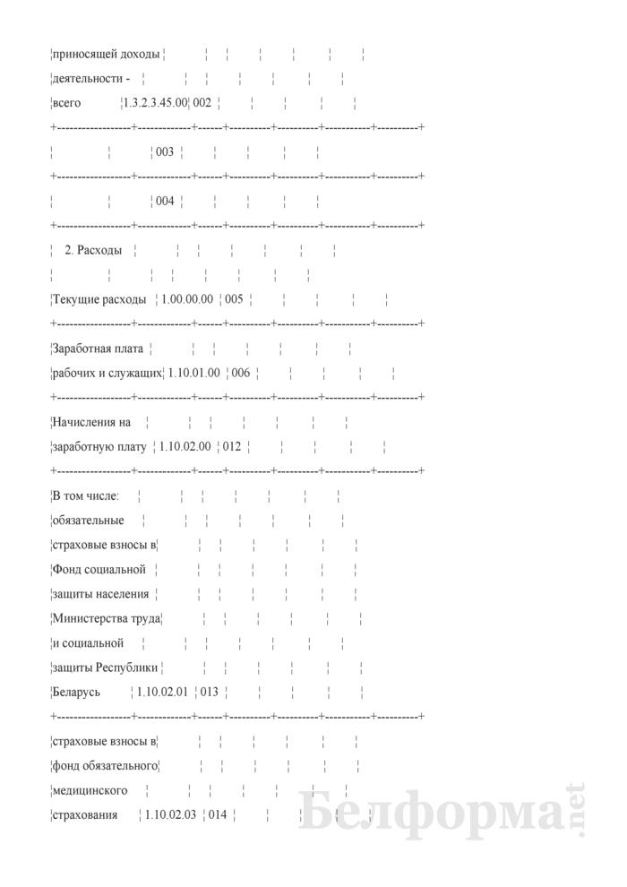 Отчет об исполнении сметы доходов и расходов внебюджетных средств (Форма 4). Страница 2