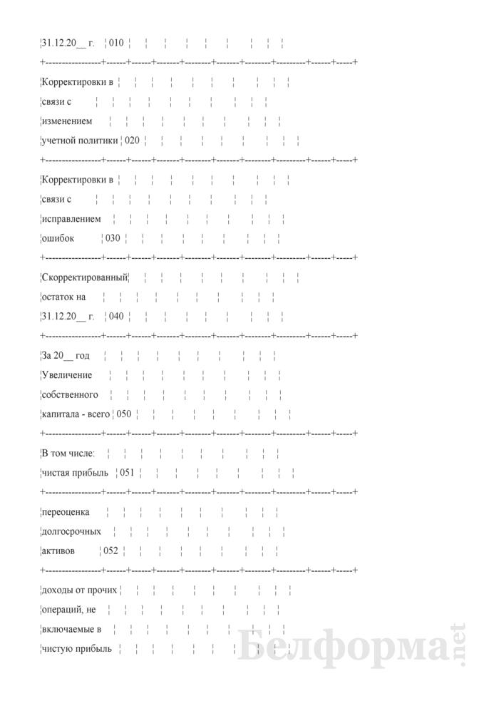 Отчет об изменении капитала (Форма 3) (для организаций системы Минсельхозпрода). Страница 2