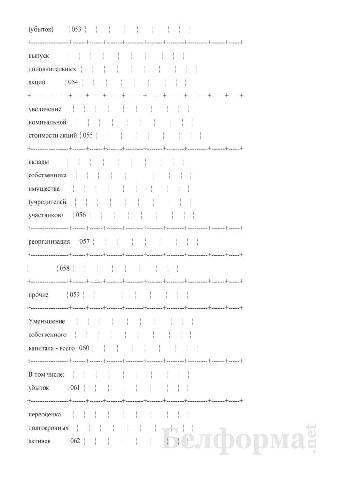 Отчет об изменении капитала (Форма 3) (для организаций системы Минсельхозпрода). Страница 3