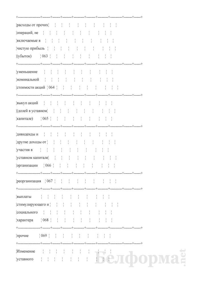 Отчет об изменении капитала (Форма 3) (для организаций системы Минсельхозпрода). Страница 4
