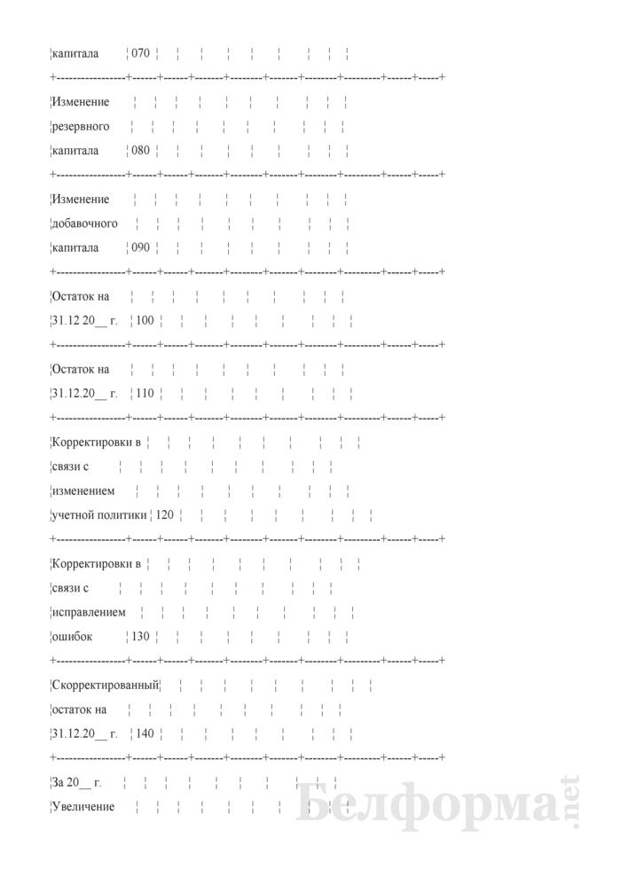Отчет об изменении капитала (Форма 3) (для организаций системы Минсельхозпрода). Страница 5