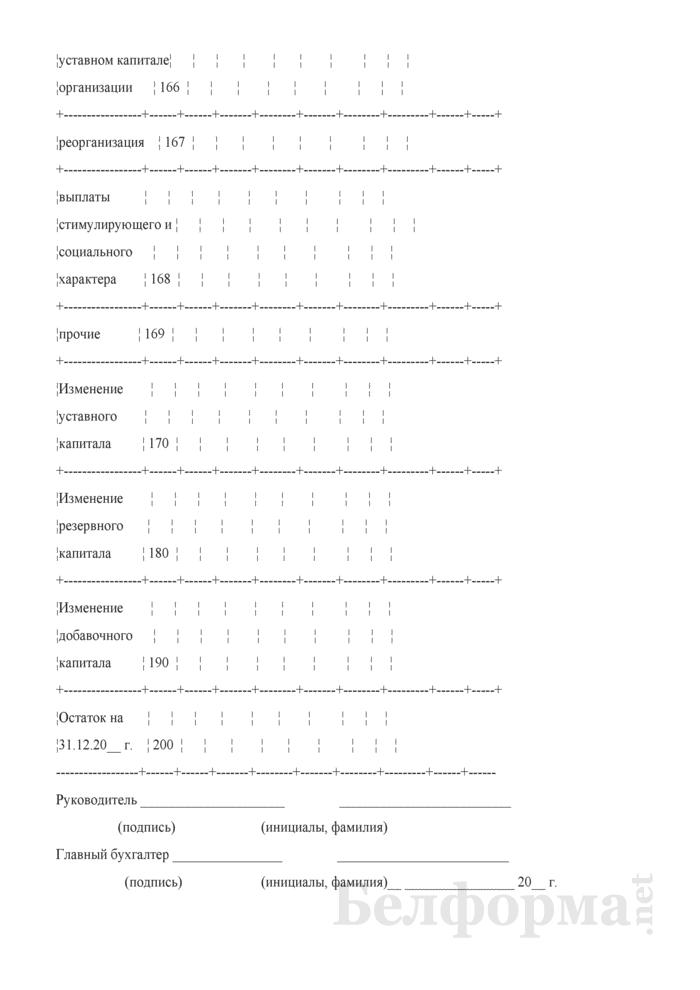 Отчет об изменении капитала (Форма 3) (для организаций системы Минсельхозпрода). Страница 8
