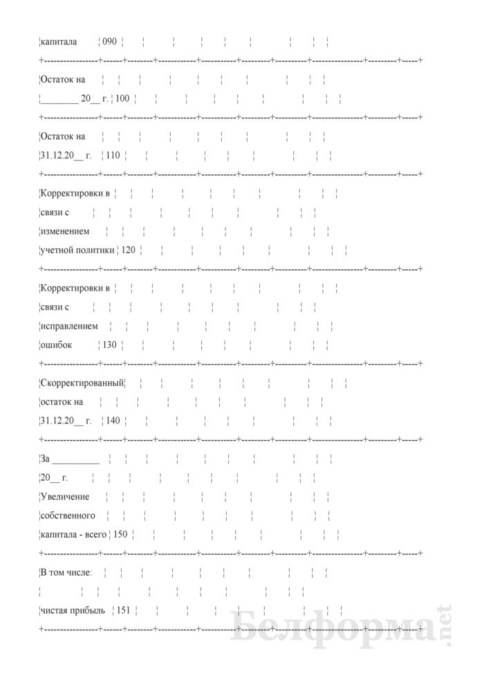 Отчет об изменении капитала (для страховых организаций). Страница 6