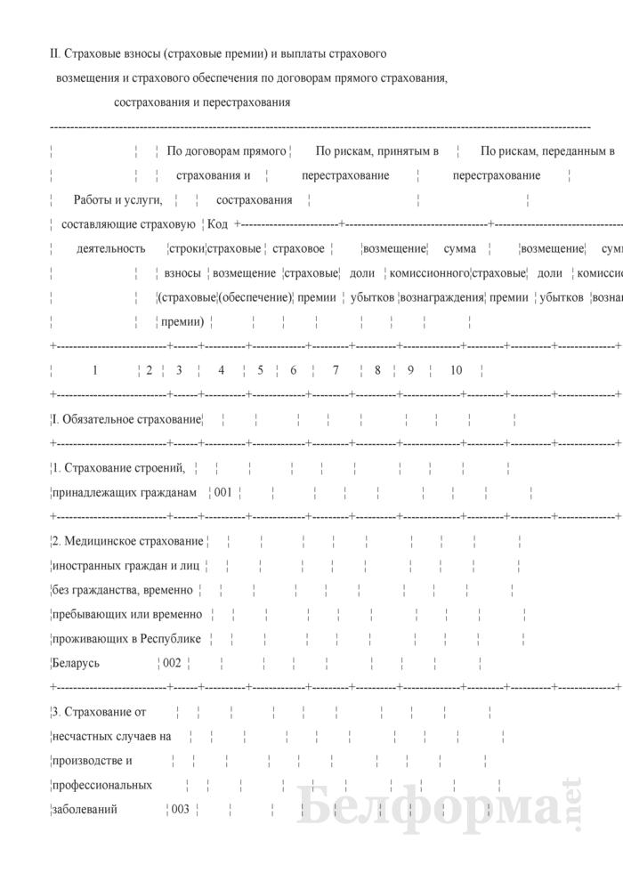 Отчет об основных показателях финансово-хозяйственной деятельности (для страховых организаций). Страница 6